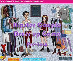 Hipster Couple Dress-Up Game