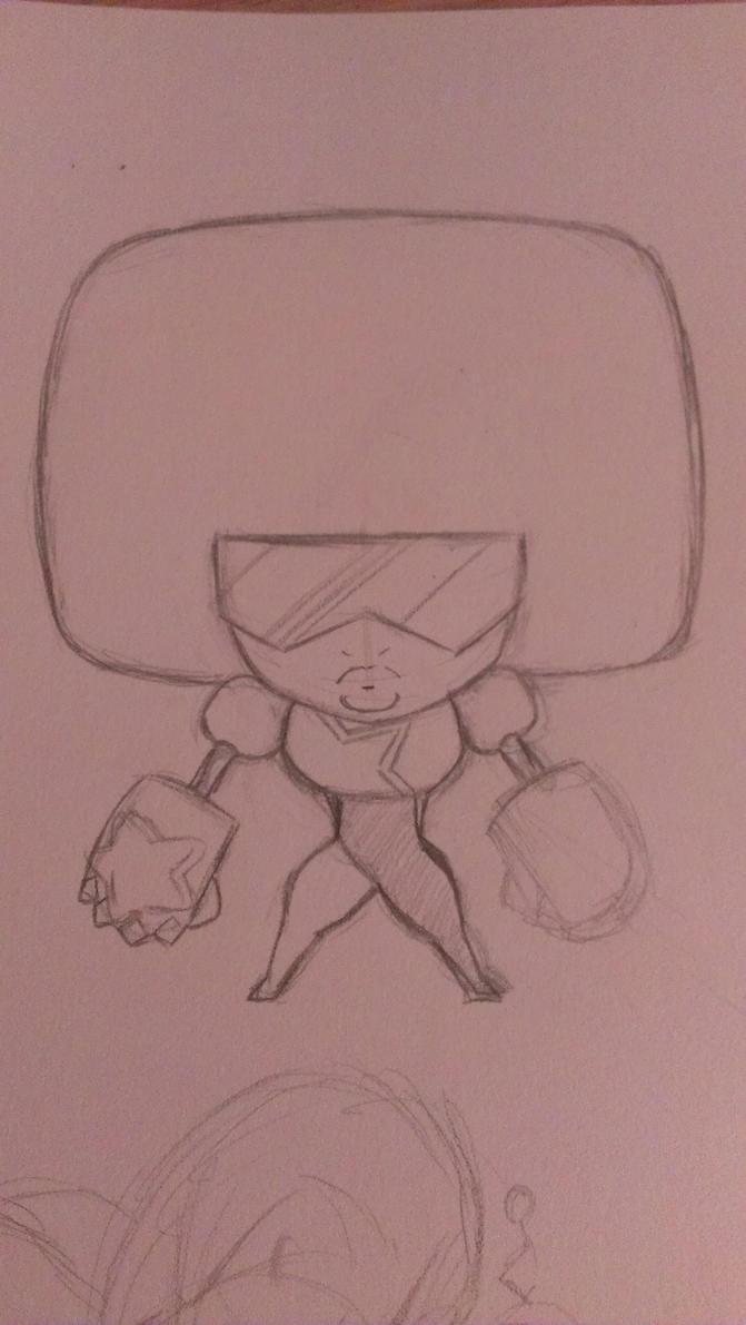 Garnet Chibi Pencil Sketch by Dark-Blue-Abaddon