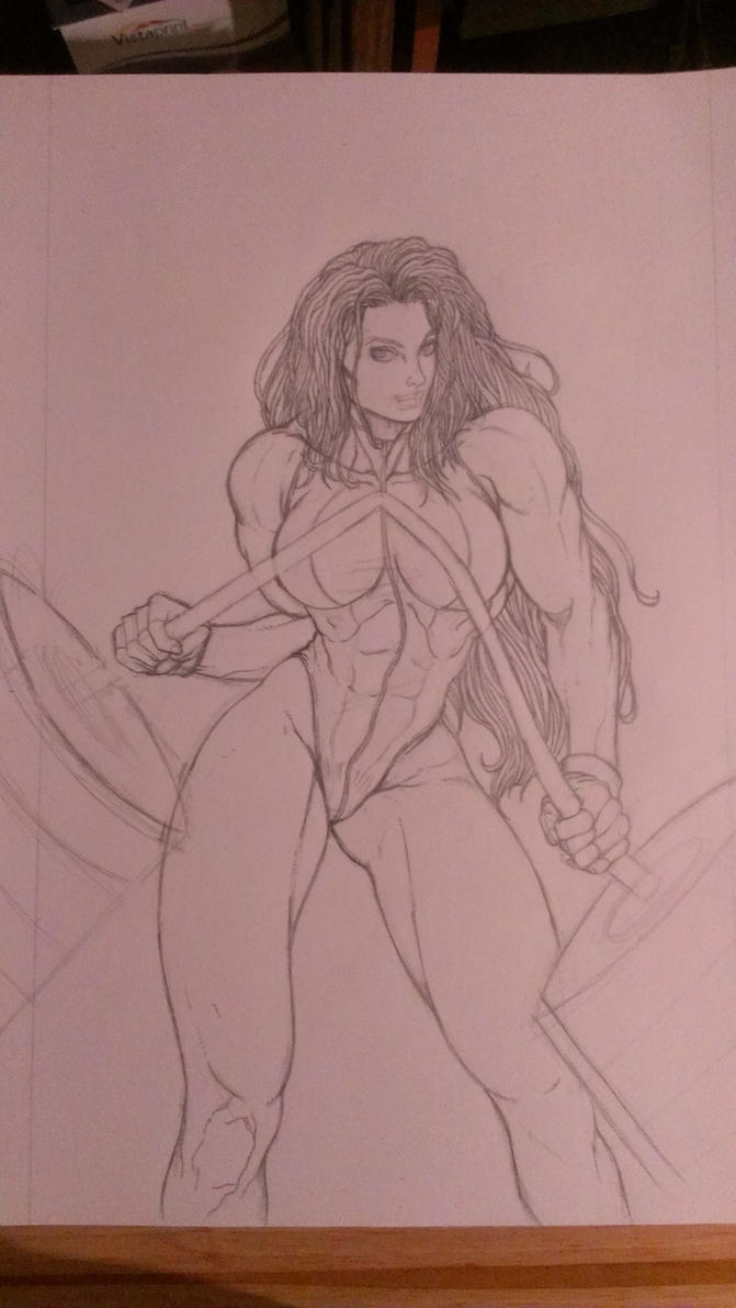 She-Hulk for Wizard magazine cover sketch by Dark-Blue-Abaddon