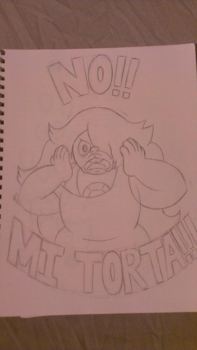 No! Mi Torta Sketch by Dark-Blue-Abaddon