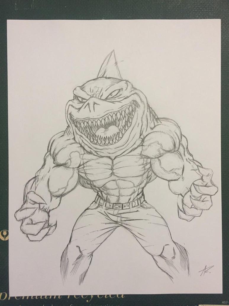 Street Sharks - Ripster pencil by Dark-Blue-Abaddon
