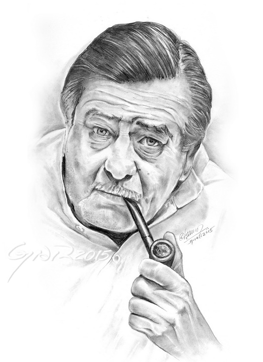 My Latest in Pencil-Raj Kapoor, The Great Showman by staryaar