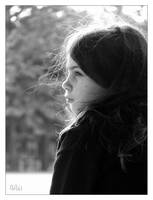 Staring little girl by Papou