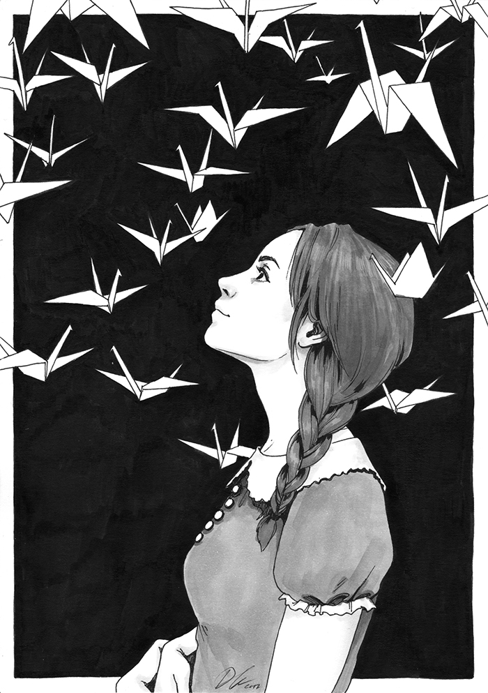 Far Away, Daily Ink XVIII [SOLD] by DjamilaKnopf