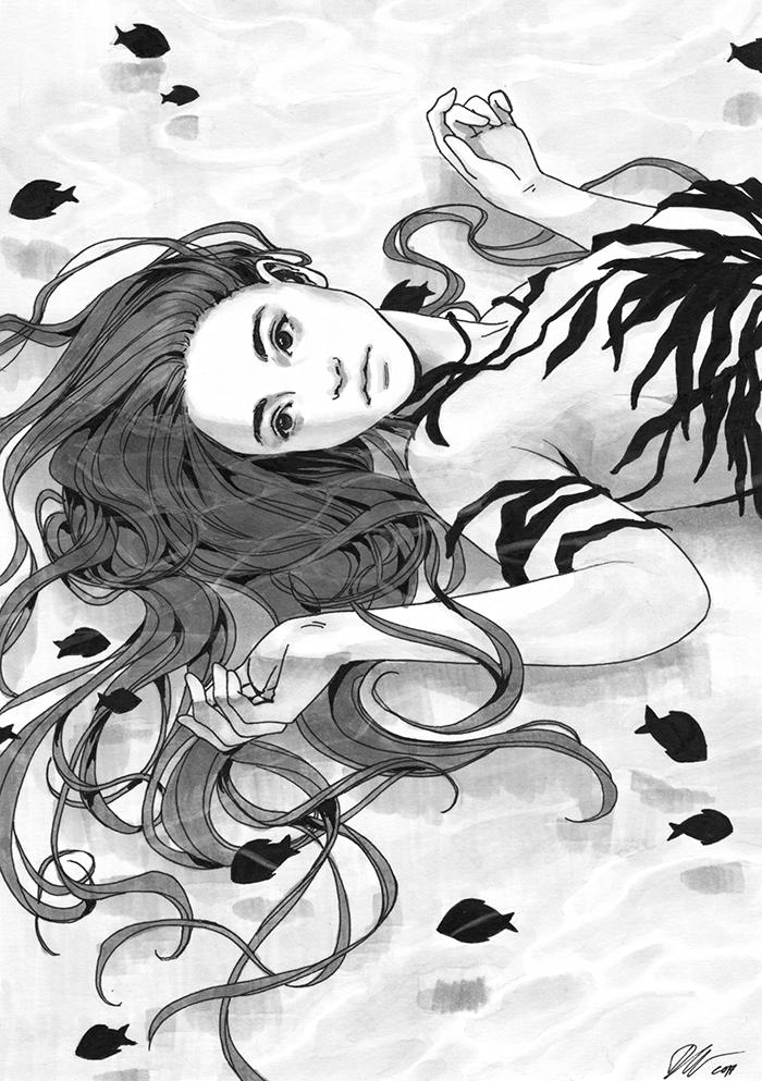 Swept Away, Daily Ink XX by DjamilaKnopf