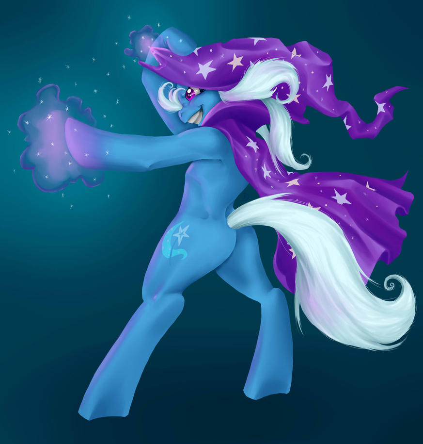 MLP- THE GREAT AND POWERFUL TRIXIE by Tzelly-El
