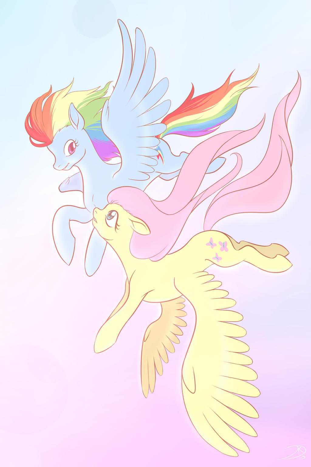 Rainbow and Shy by Tzelly-El