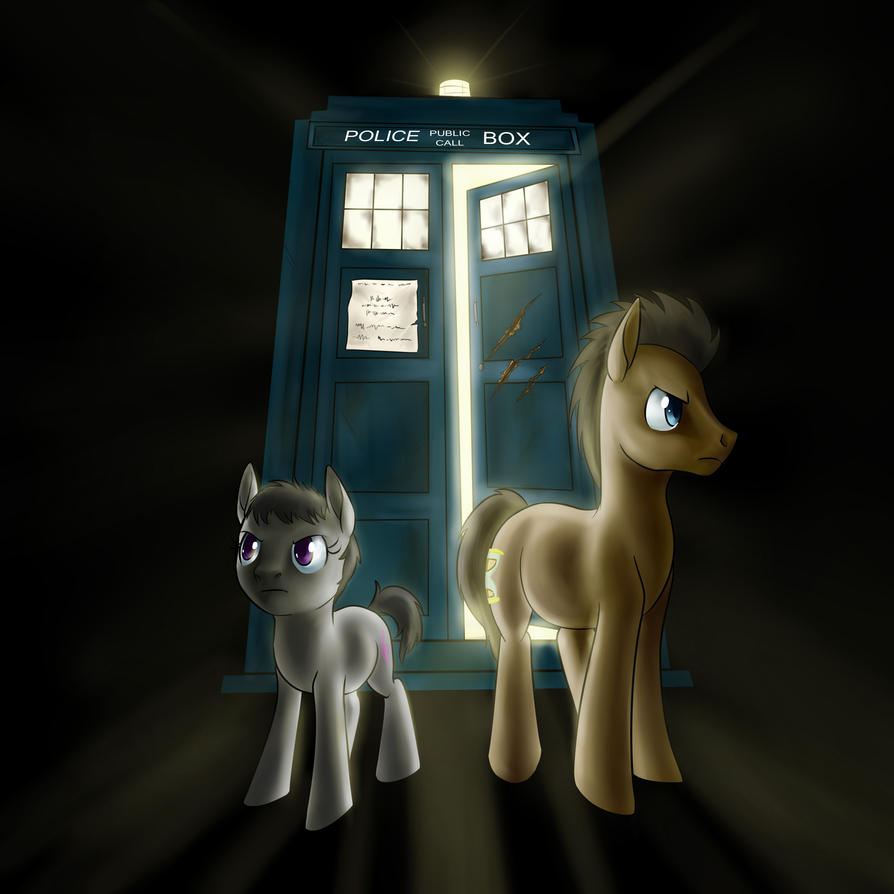 Dr Whooves and Octavia commission by Tzelly-El