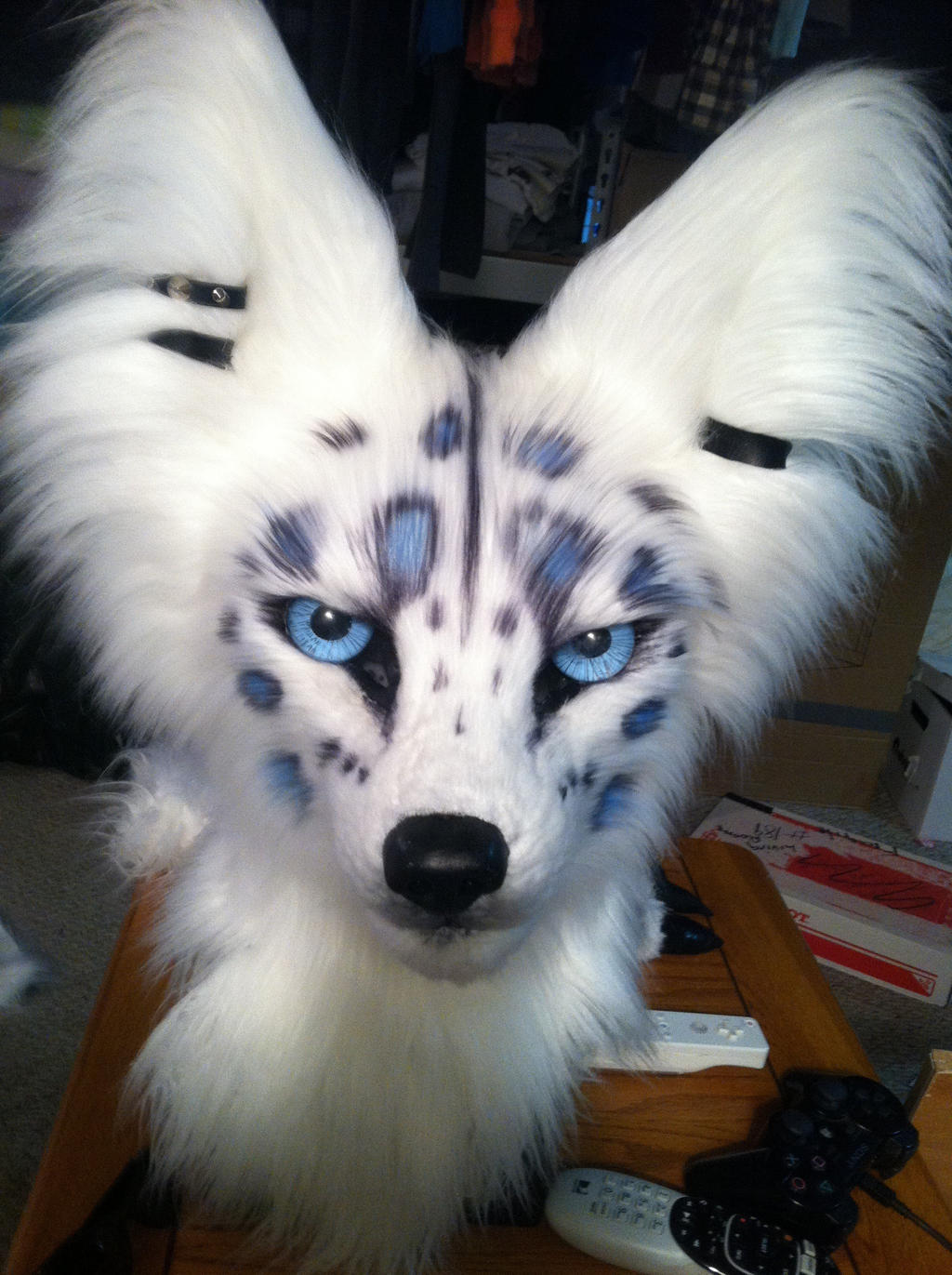 Fursuit markings by wingedwolf94