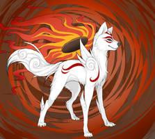 Amaterasu by wingedwolf94