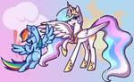 Celestia And Rainbow