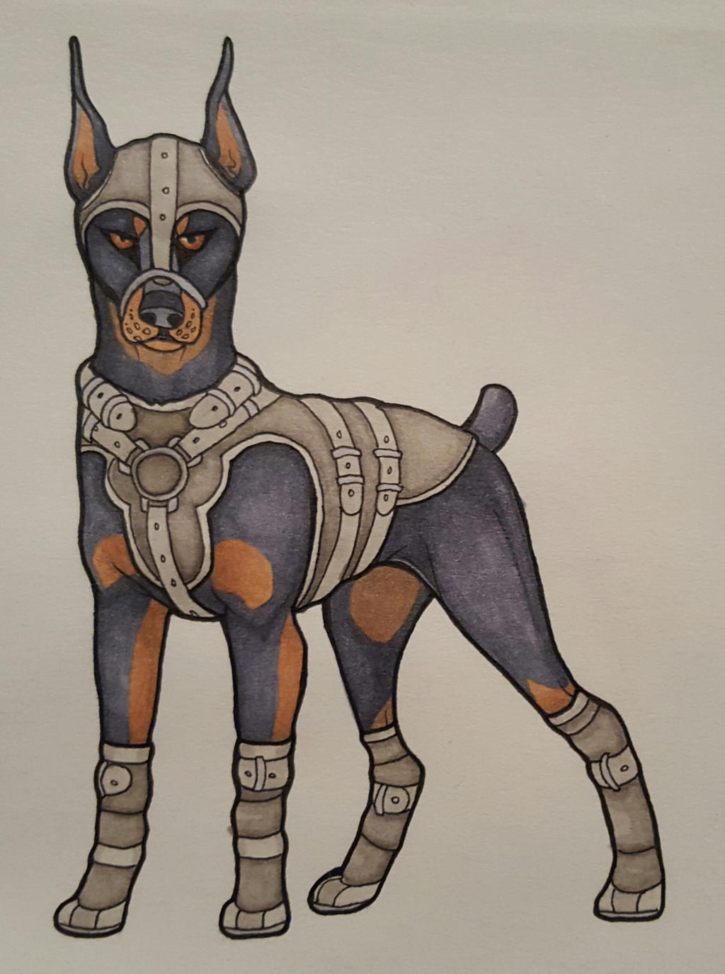 Armored doberman by wingedwolf94 d9kclgy