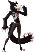 Skeleton furry thing by wingedwolf94
