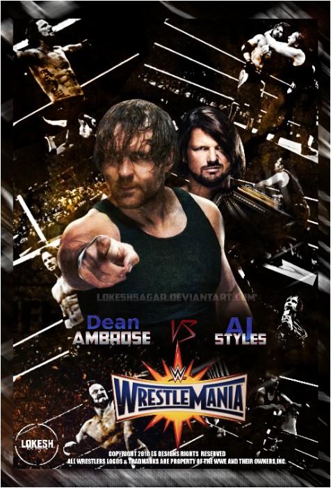 Wwe Wrestlemania 33 Poster by LokeshSagar