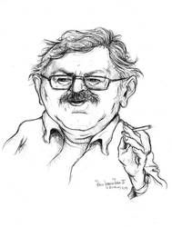 Paco Ignacio Taibo II-caricature 1 (sketch)