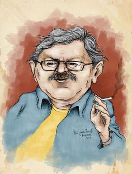 Paco Ignacio Taibo II -caricature 1 (colored)