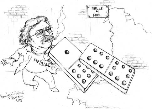 Paco Ignacio Taibo II -caricature 2 (sketch)