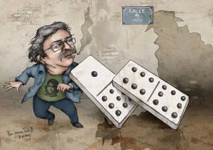 Paco Ignacio Taibo II -caricature 2 (colored)