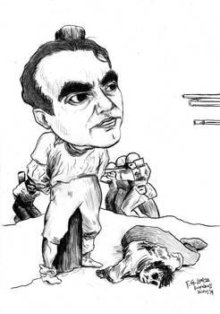 F. G. Lorca -caricature 1 (sketch)