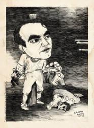F. G. Lorca -caricature 1 (old print version)
