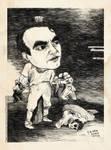 F. G. Lorca -caricature 1 (old print version) by KyrMaur
