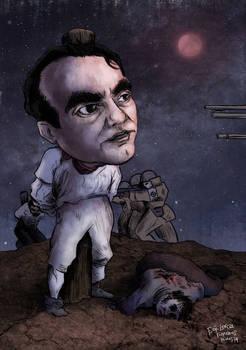 F. G. Lorca -caricature 1 (colored version)