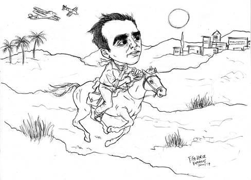 F. G. Lorca -caricature 2 (sketch)