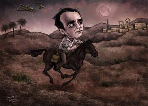 F. G. Lorca -caricature 2 (colored version)