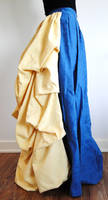 Blue and Yellow Bustle Skirt