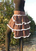 Steampunk Bustle Skirt by salvagedsword