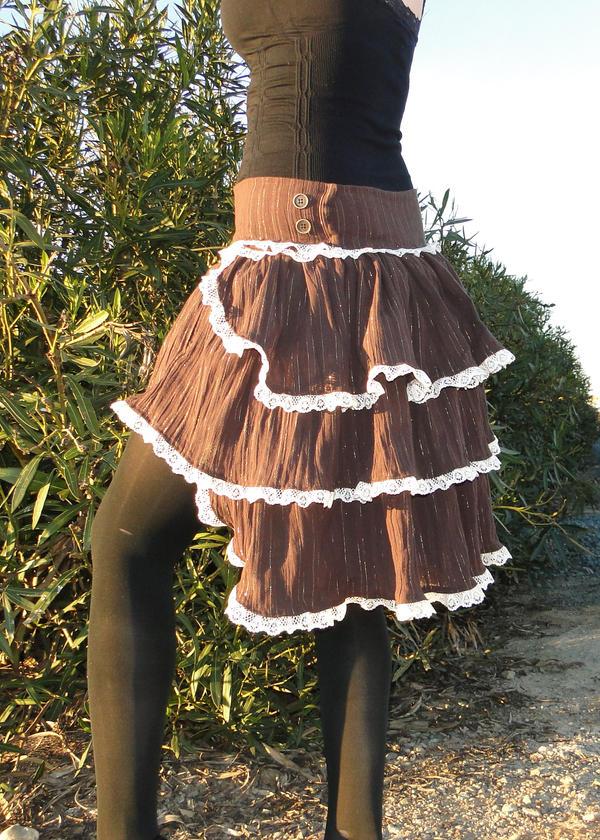 steampunk bustle skirt by salvagedsword on deviantart