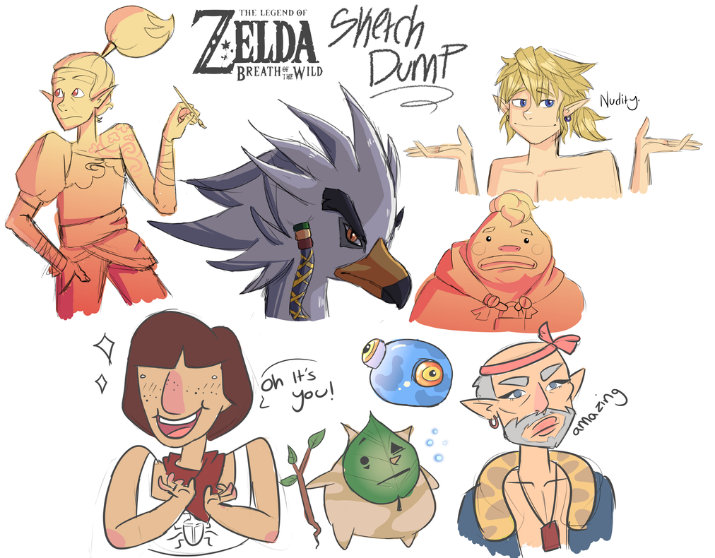 BoTW Sketchdump by ScribbleCate