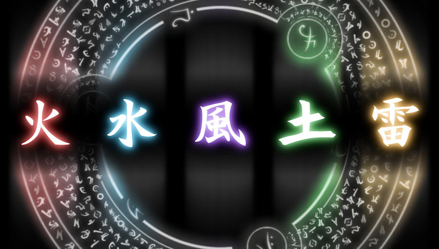 Elemental Kanji By Fluffyxai On Deviantart