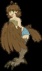Harpy girl by FluffyXai