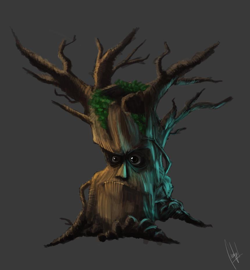 Dark forest tree by CordobezWeee