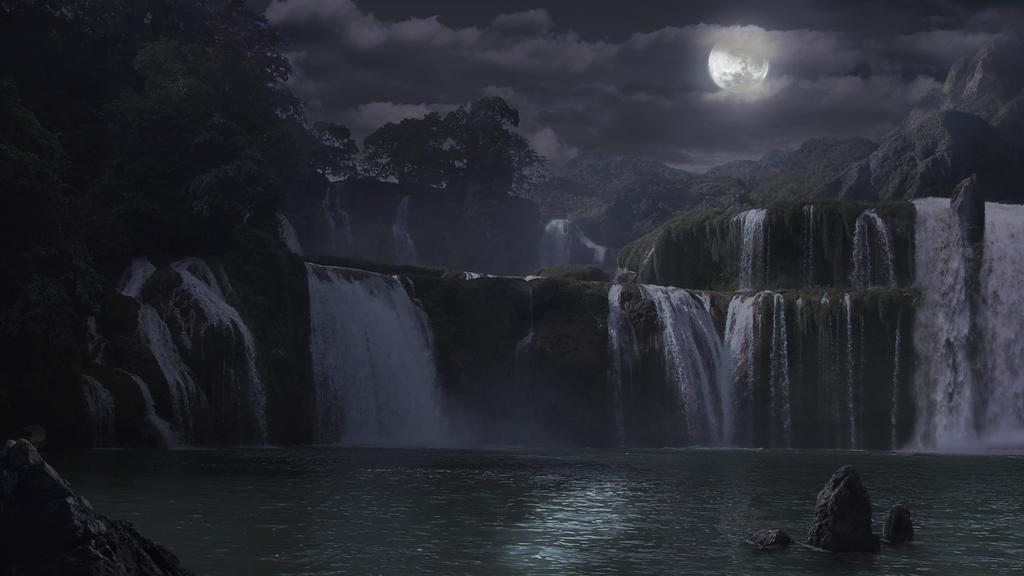 The WaterFall Night by CordobezWeee