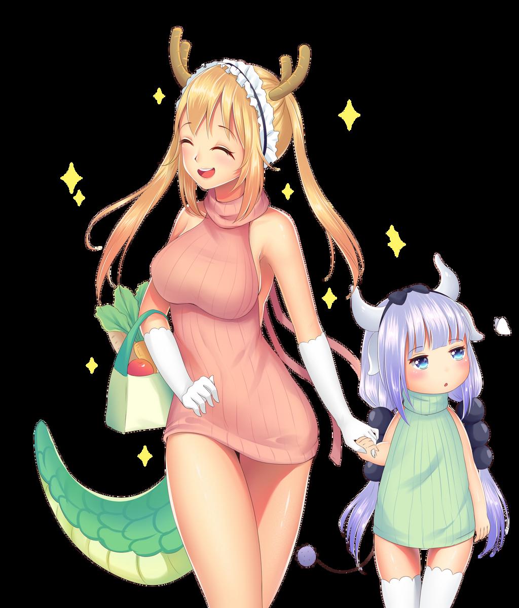 Fan art Dragon maid by daisuchan