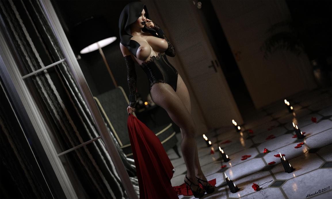 Lady Delkan - Sombre romantisme by Akaisha-art3d