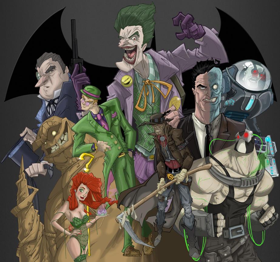 Batmanvillains by coldicebg