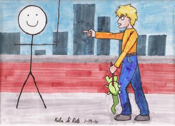 Glitch vs Sir Calvin by KebaSiRota