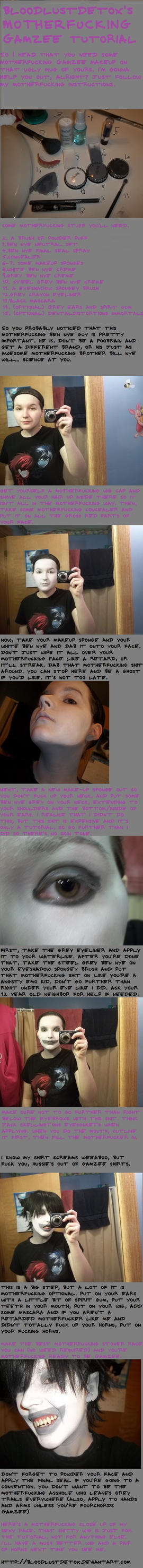 Motherfucking Gamzee Makeup Tutorial by BloodlustDetox