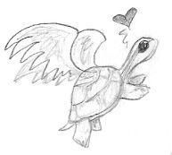 Flying Turtle by singing-hallelujah