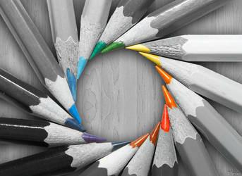 Pencils by SpaceBlein