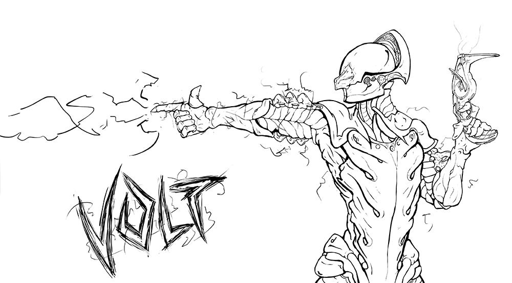 Volt Warframe Drawings Sketch Coloring Page