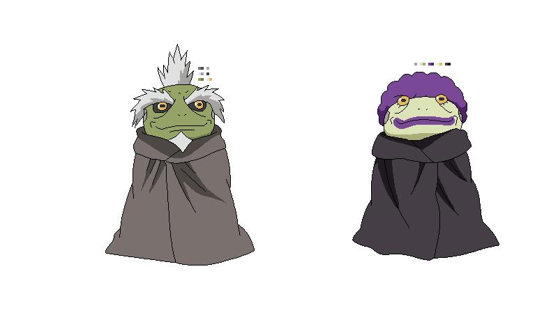 Great Sage Toads Fukasaku and Shima by kaleidescopiclee on ...