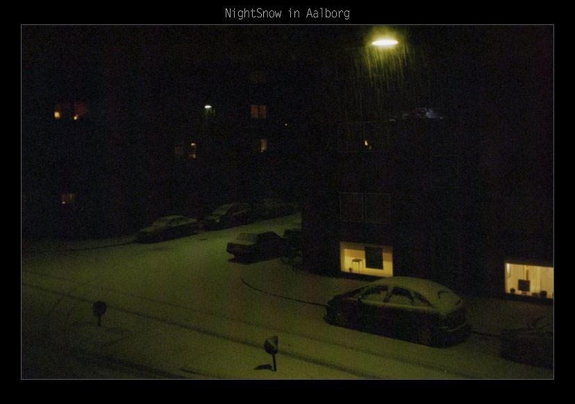 NightSnow in Aalborg by danzka