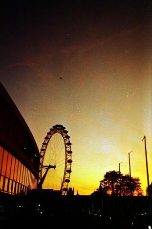 The London Eye at Sunset by danzka