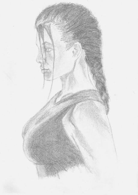 Jolie as Lara Sketch by danzka