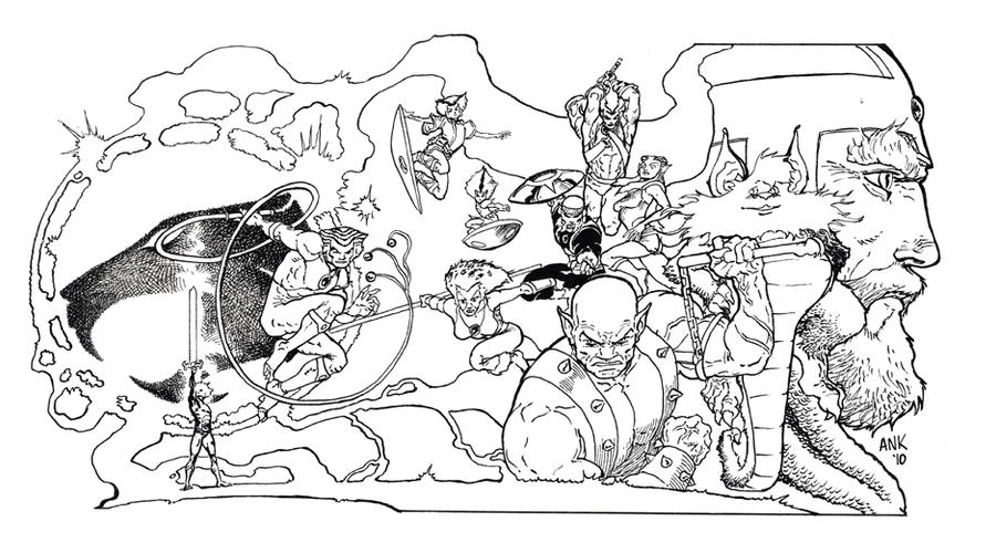 thundercats by aaronkuder thundercats - Thunder Cats Coloring Book Pages