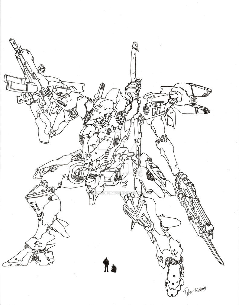 Wolves Class Mech by shinsengumi77